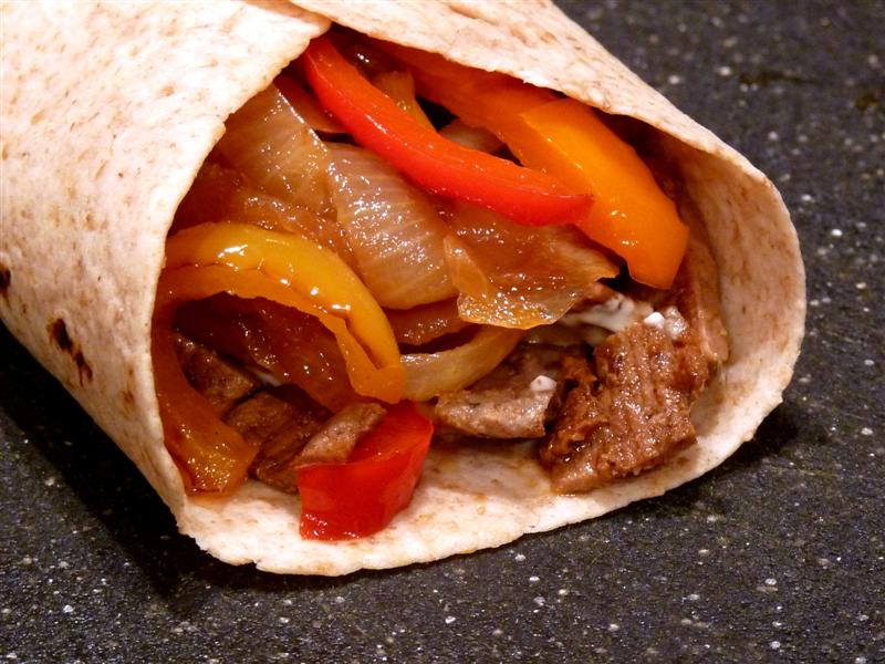 Lime Marinaded Beef Fajitas with Seasoned Sour Cream by ButterYum