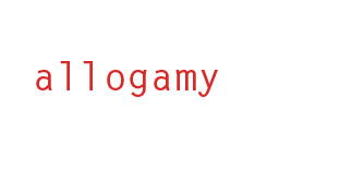 allogamy