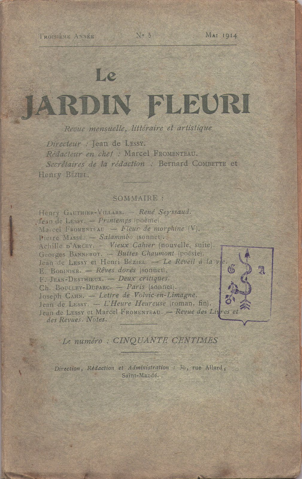 Livrenblog le jardin fleuri r seyssaud par h gauthier for Jardin fleuri lyon 9