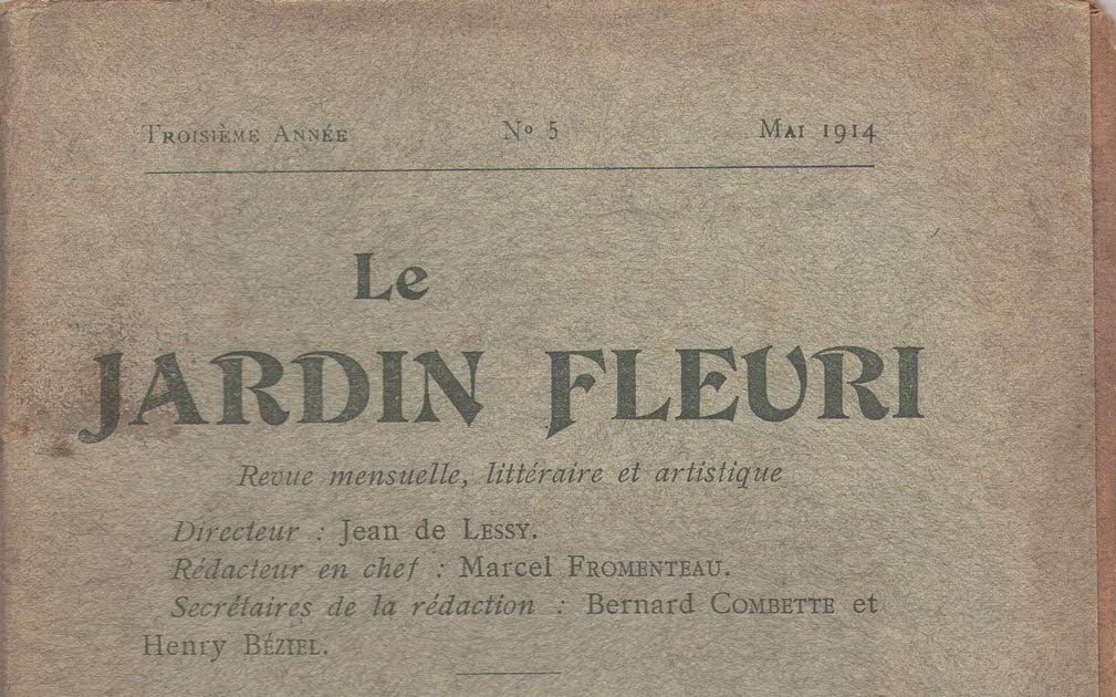 Livrenblog le jardin fleuri r seyssaud par h gauthier for Alexandre jardin nu