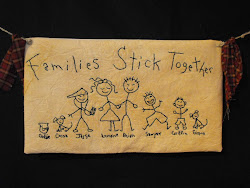 Families Stick Together - Stitchery Wall Hanging