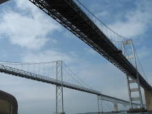 Passing under Chesapeake Bay Bridge