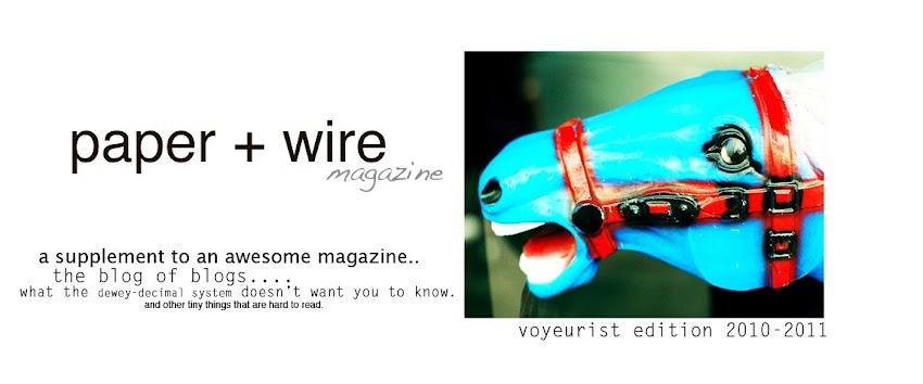 paper + wire magazine