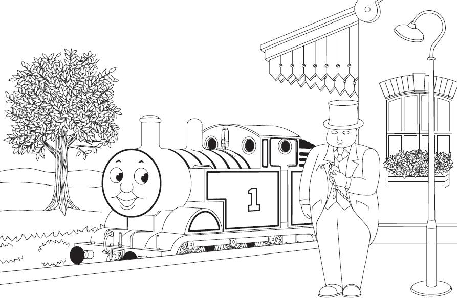 thomas and friends thomas and friends coloring page