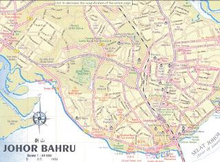 Malaysia Travel Guide And Map Map of Johor Johor Bahru