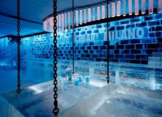 icebar em Milão, Itália