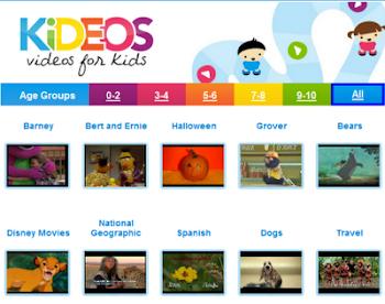 KÍDEOS. Vídeos para nenos e nenas clasificados por idades