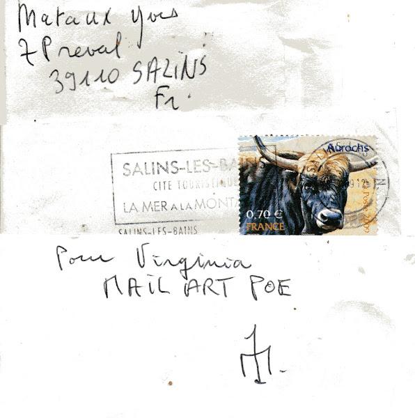 Maraux Yves mailart E.A.POE