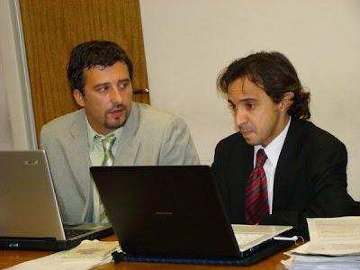 Ramiro Fresneda y Raúl Almeyda, abogados de los Godoy y el Movimiento Campesino de Córdoba.