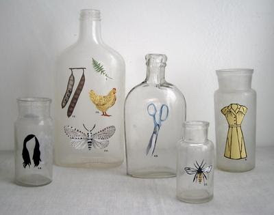 Decoracion de botellas de vidrio