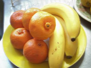 Bananas y mandarinas