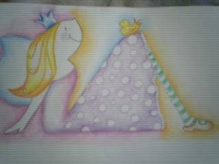 Diseño de hada para cuadro infantil