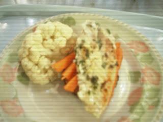 Pechuga o pescado con guarnición de verduras: 400 cal aprox.