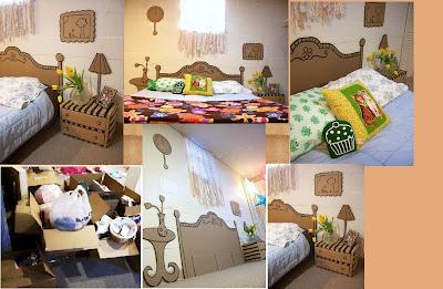 Muebles de escenografia de carton