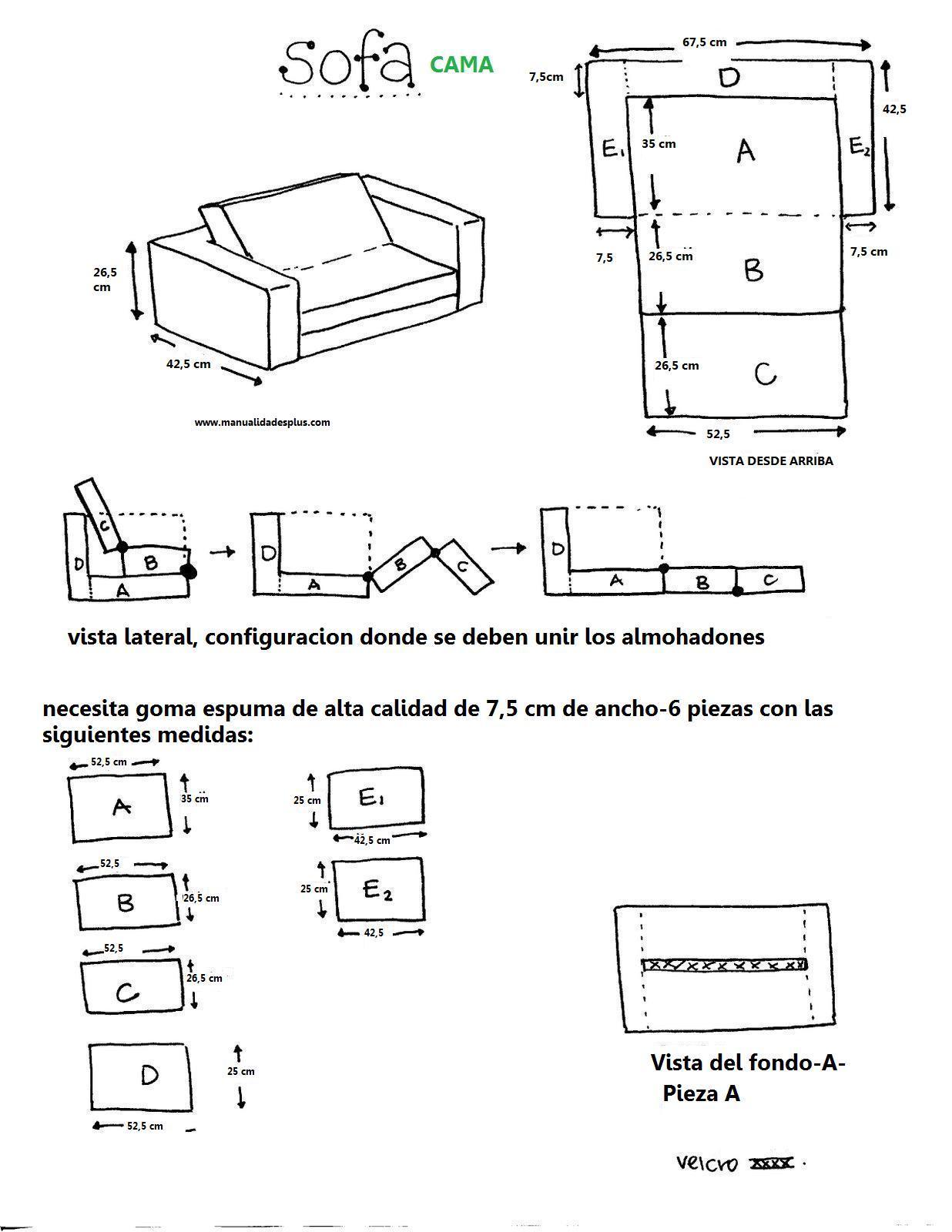 Como hacer sofa cama para ni os dia del ni o for Como hacer un sillon con una cama