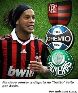 O leilão por Ronaldinho.