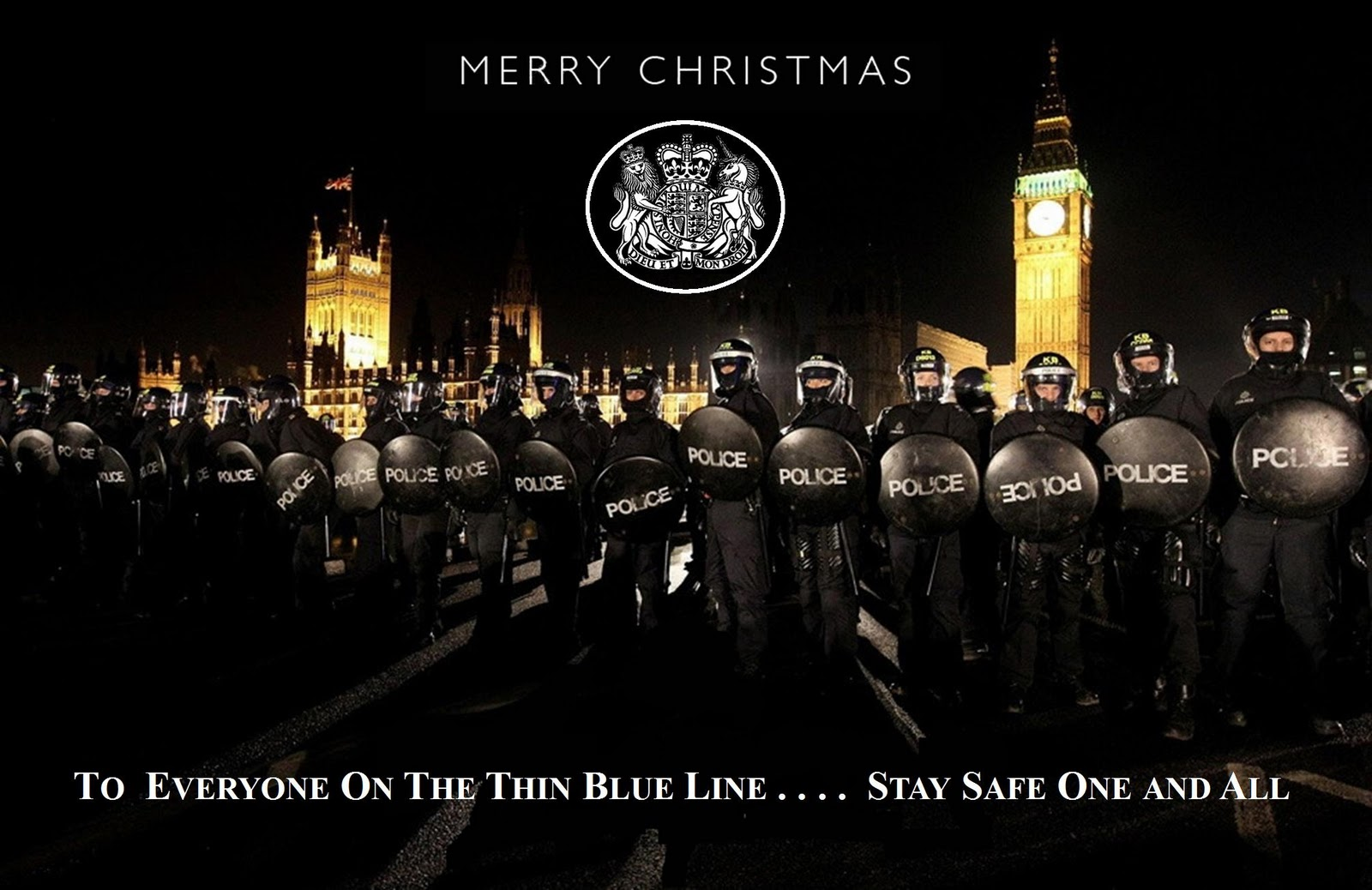 The Thin Blue Line A Merry Amp Safe Christmas To Everyone