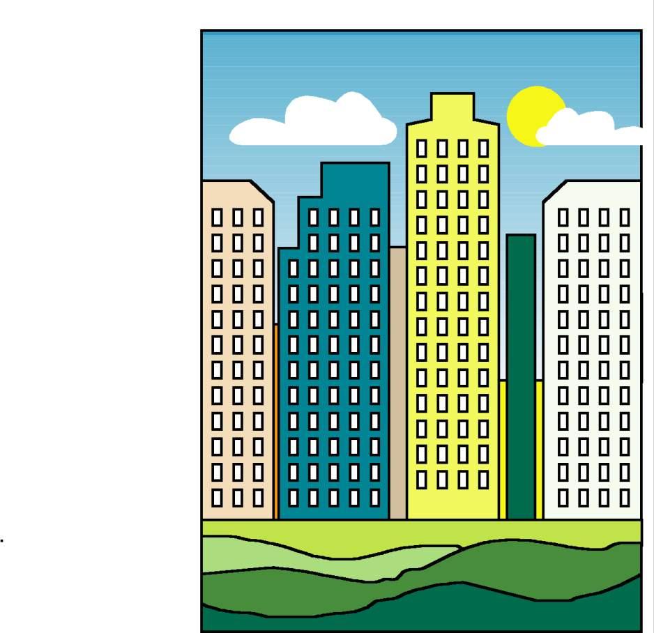 Imagenes de Paisajes: urbanos y rurales para colorear