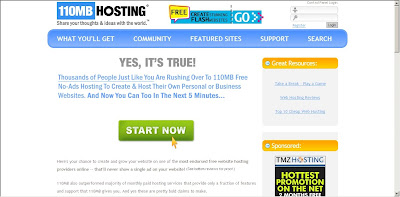 110MB Free Web Hosting Site