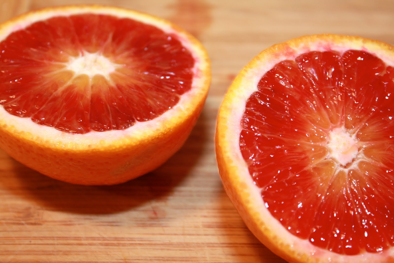 Blood oranges are in season right now. Haven't tried them yet ...