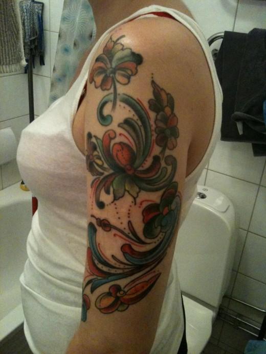 2011 Arm Tattoo Design For Girls