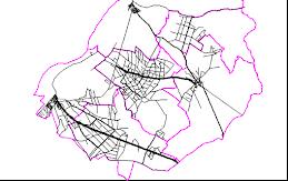 Mapa das Estradas do Concelho