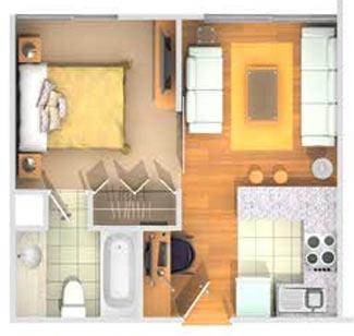 Viejitos piolas planos de monoambientes y microdepartamentos for Modelos de mini apartamentos
