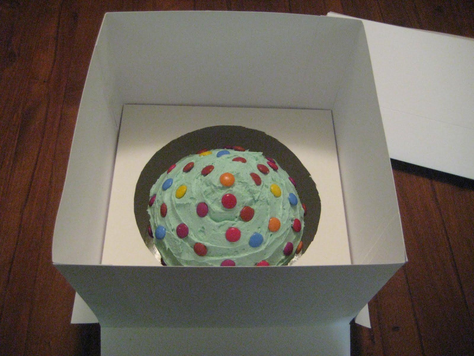 Cavey Cakes DIY cake box for Giant Cupcake