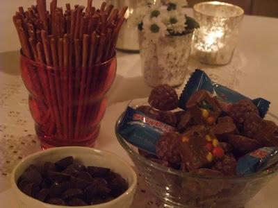 saltstenger og sjokolade