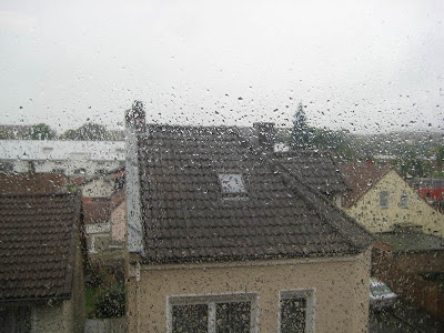 Blick aus dem Fenster aus meiner Wohnung gerade