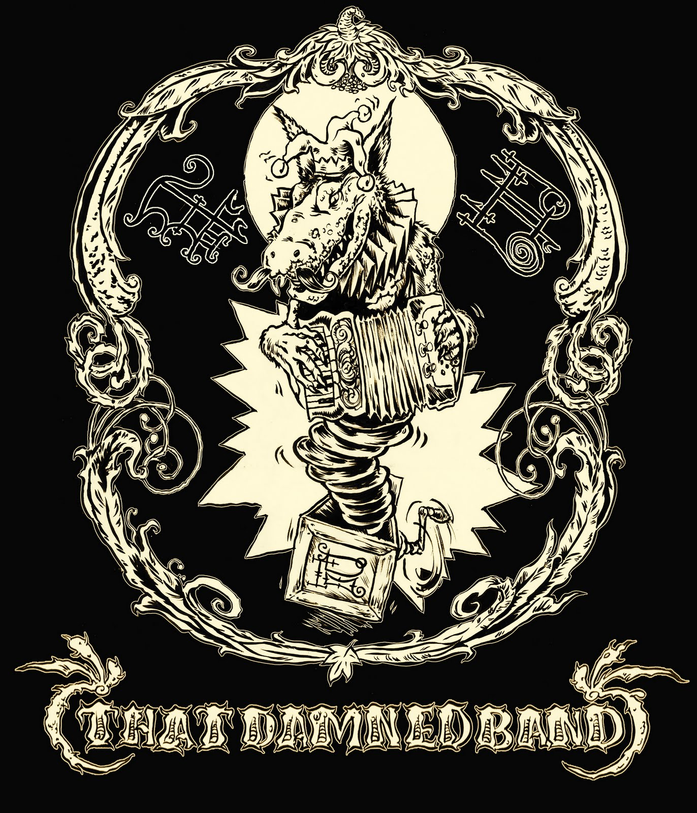 Gatorhorse Studio That Damned Band T Shirt Design