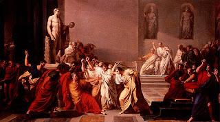 Stabbing death of Julius Caesar in Roman senate