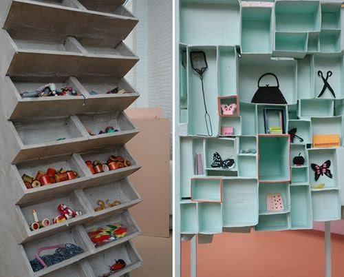 Malu espacio una estanter a con cajas - Estanterias con cajas ...