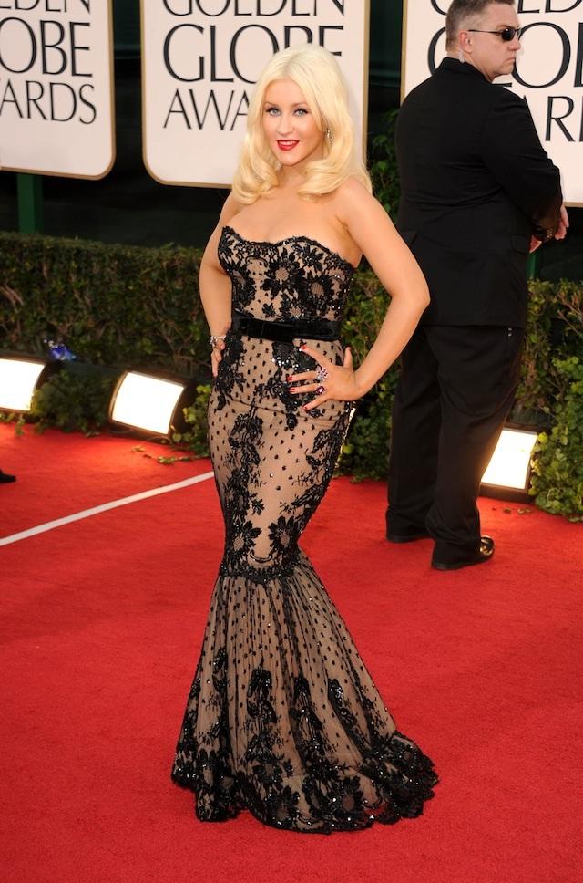 christina aguilera 2011 golden globes. Christina Aguilera Makes an