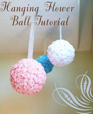 Hanging roses flower ball tutorial mightylinksfo