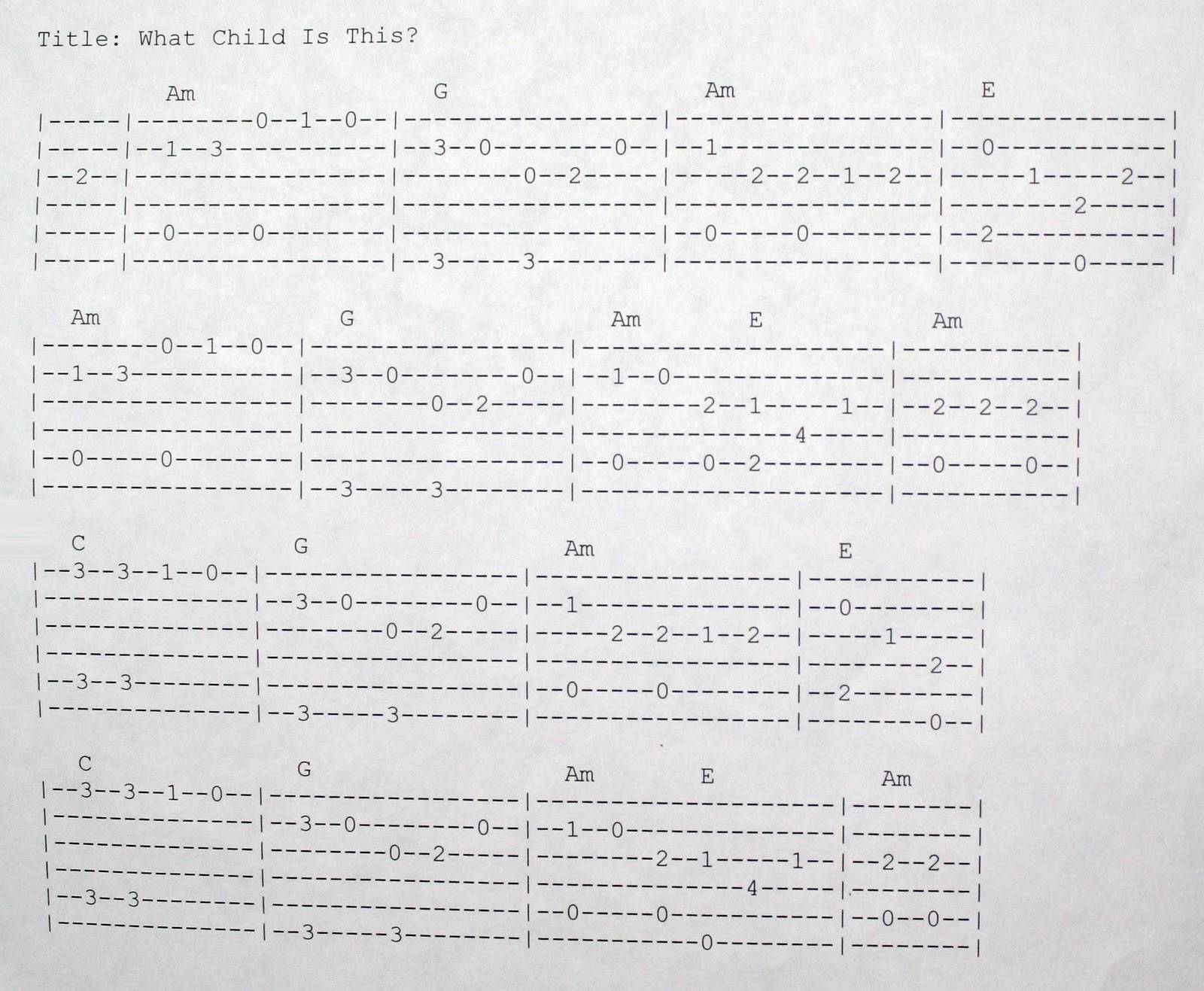 Real Country Guitar: How to Play What Child is This (Finger Picking)