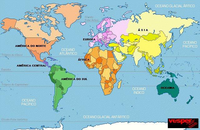 Mapa mundi con sus continentes - Imagui