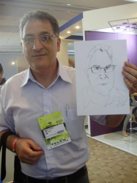 Caricatura humana feita em evento de otorrinos em Sauípe-Bahia