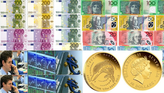 EURO  AND AUSTRALIAN DOLLAR CURRENCY  TRADE