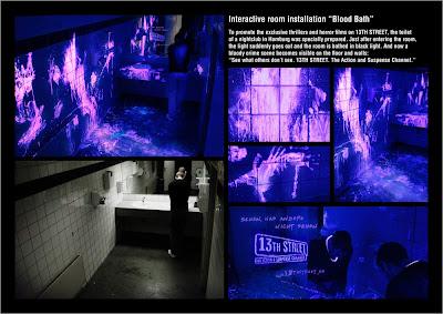 marketing, guerrilha, 13th street, terror, blood bath, sangue, banheiro