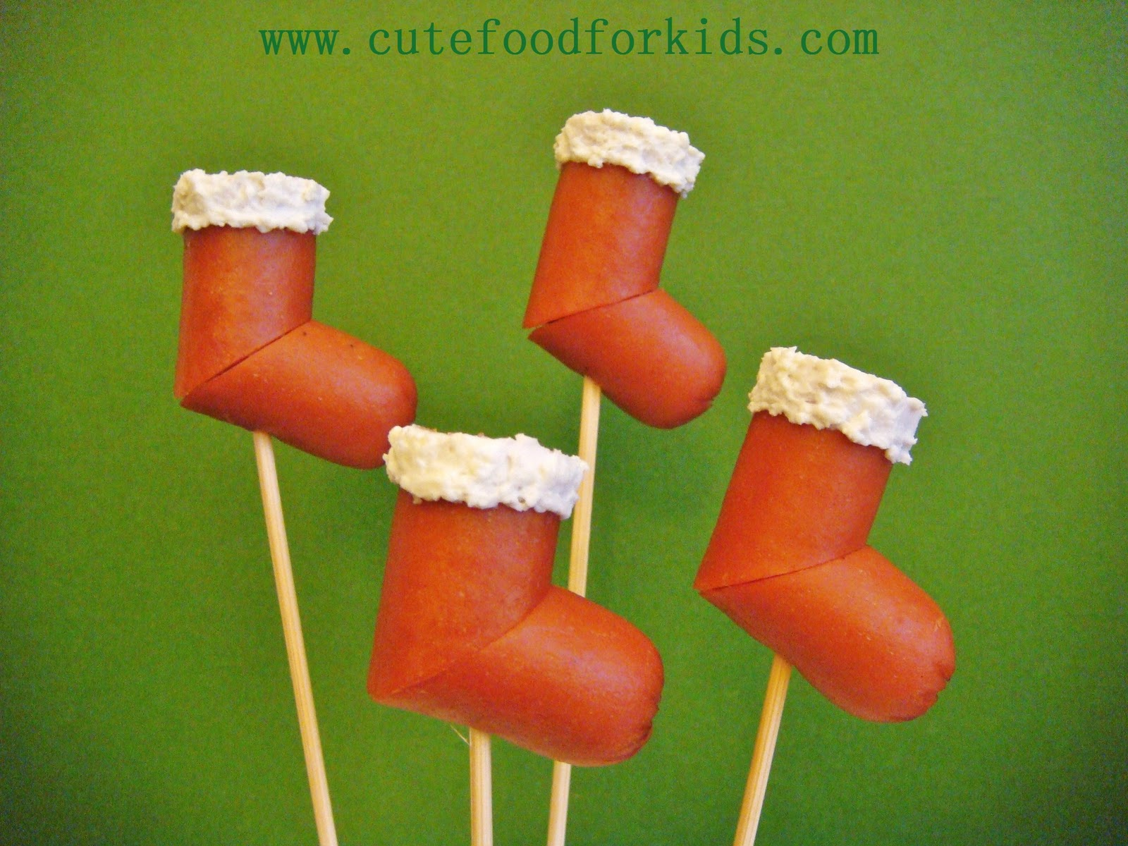 Cute food for kids hot dog stocking for Entree facile pour noel