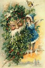 Vintage Postcard Santa...