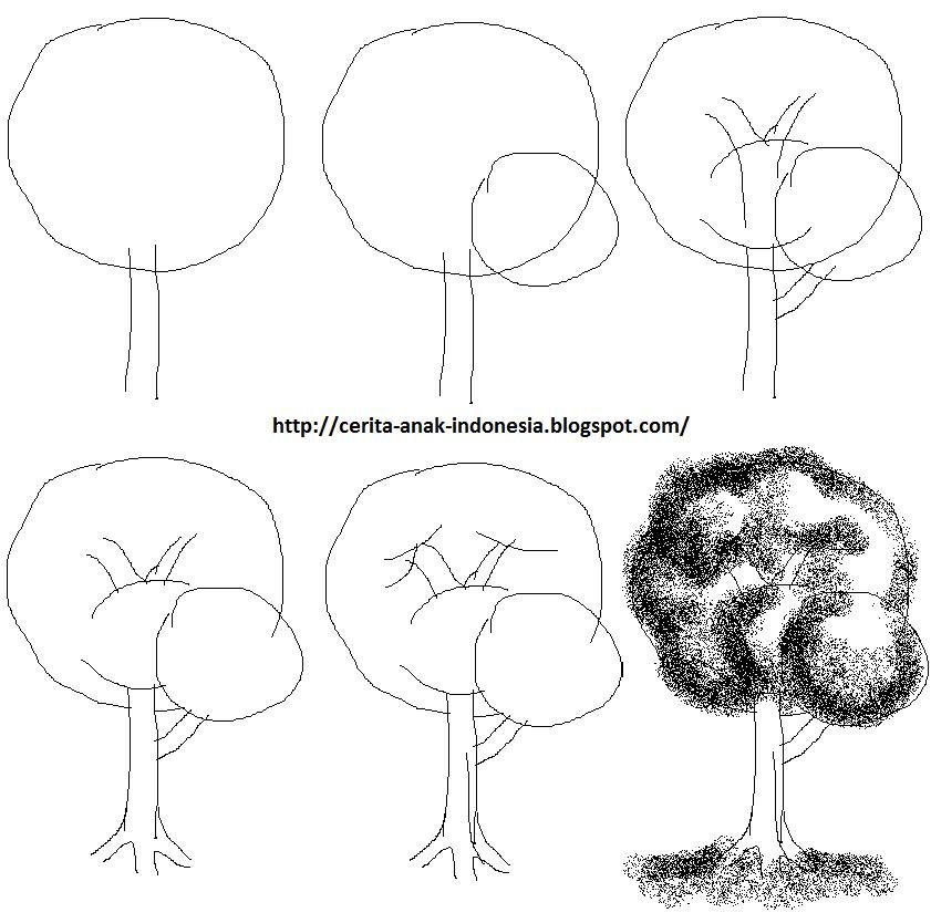 Cara+menggambar+pohon