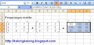 matriks excel