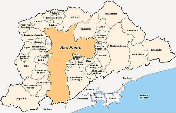 Mapa das mesorregiões do Estado de São Paulo   Download