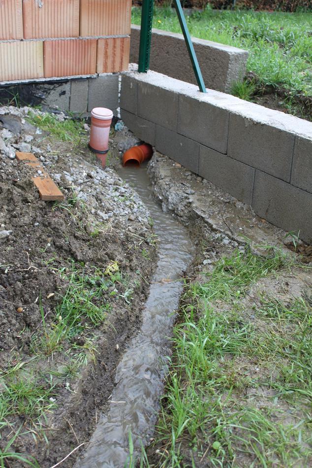 Wir wohnen im neuen haus wasserrinne hatte sinn - Wasserrinne garten ...