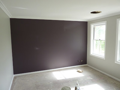 Building at camden acres painting pic fest for Grey feature wallpaper bedroom