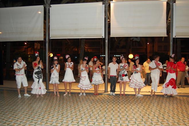 presentación de los trajes de Rafa Valverde para la noche blanca del flamenco