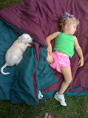 Had to post a picture of my niece Alexandria and my step-brothers new puppy Bella.