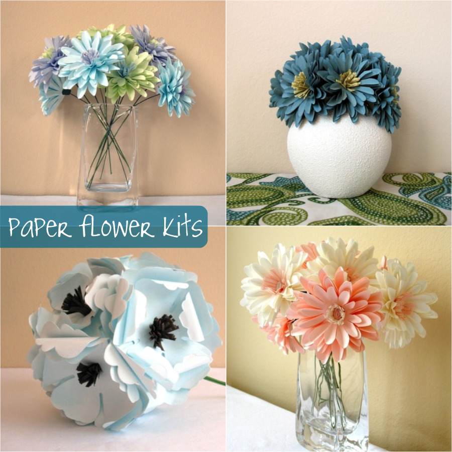 Down and out chic diy paper flower bouquets izmirmasajfo